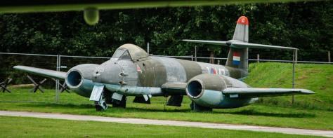 Gloster Meteor F8 op Aviodrome. Afbeelding van Flickr.com, onder Creative Commons licentie (https://creativecommons.org/licenses/by/2.0/), zie ook: https://goo.gl/4gEZhK.
