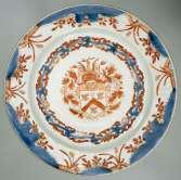AK-NM-13413_Bord met het wapen van de familie Van gellicum, anoniem, , 1720 - 1730