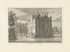 RP-P-1904-4006_Gezicht op het kasteel te Gellicum, Caspar Jacobsz. Philips, 1752 - 1789