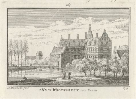 RP-P-OB-73.618_Huis Wolfswaard, Abraham Rademaker, Willem Barents, Antoni Schoonenburg, 1727 - 1733.jpg
