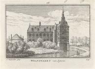 RP-P-OB-73.619_Gezicht op Huis Wolfswaard, Abraham Rademaker, Willem Barents, Antoni Schoonenburg, 1727 - 1733