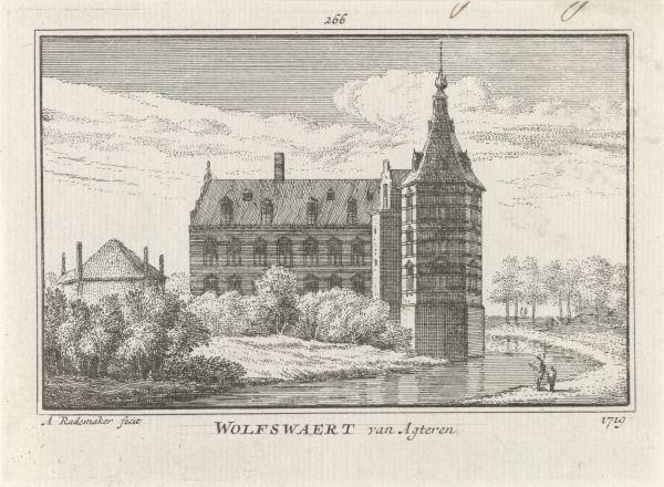 RP-P-OB-73.619_Gezicht op Huis Wolfswaard, Abraham Rademaker, Willem Barents, Antoni Schoonenburg, 1727 - 1733.jpg