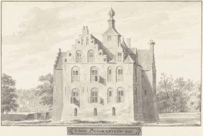 RP-T-1888-A-1678_Het kasteel Bulkestein bij Deil, Gelderland, Cornelis Pronk, 1728 - 1732