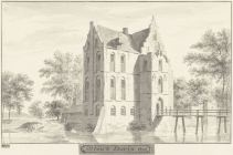 RP-T-1888-A-1683_Het kasteel te Enspijk, Gelderland, Cornelis Pronk, 1728 - 1732