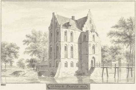 RP-T-1888-A-1683_Het kasteel te Enspijk, Gelderland, Cornelis Pronk, 1728 - 1732.jpg