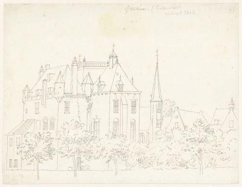 RP-T-1888-A-1689_Het kasteel te Gellicum, Gelderland, Cornelis Pronk, 1731.jpg