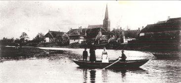 Het voetveer bij Beesd, jaar onbekend. Verzameling Rochus Timmer.