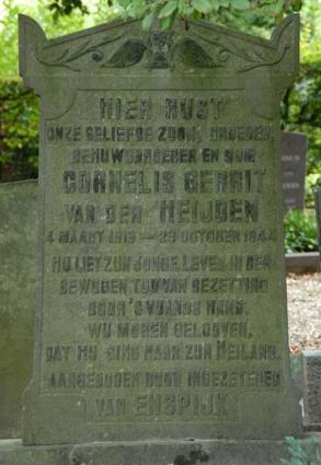 grafsteen Kees van der Heijden in Enspijk